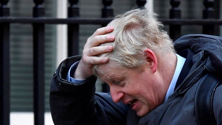 Former British Foreign Secretary Boris Johnson arrives at Downing Street