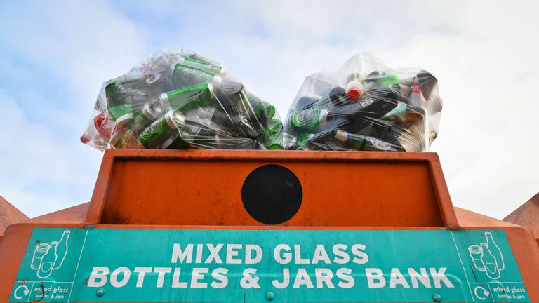 People have complained about overflowing bins due to altered collection timetables