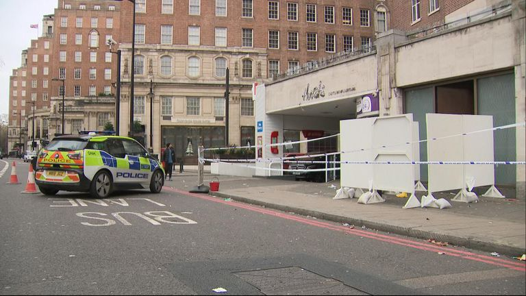 A bouncer was stabbed to death in London's Park Lane