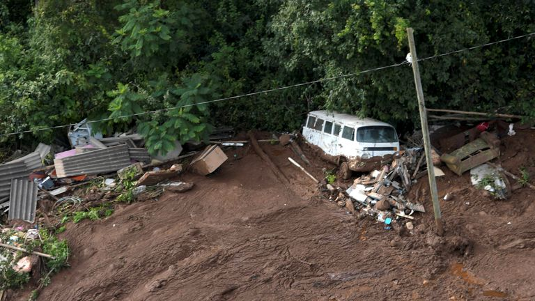 Vehicles and homes were swept away in the devastating deluge