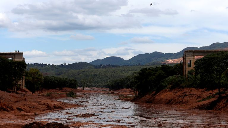 The scene in southeastern Brazil after the dam burst