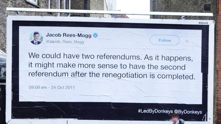 Jacob Rees-Mogg thought a second referendum could work in 2011