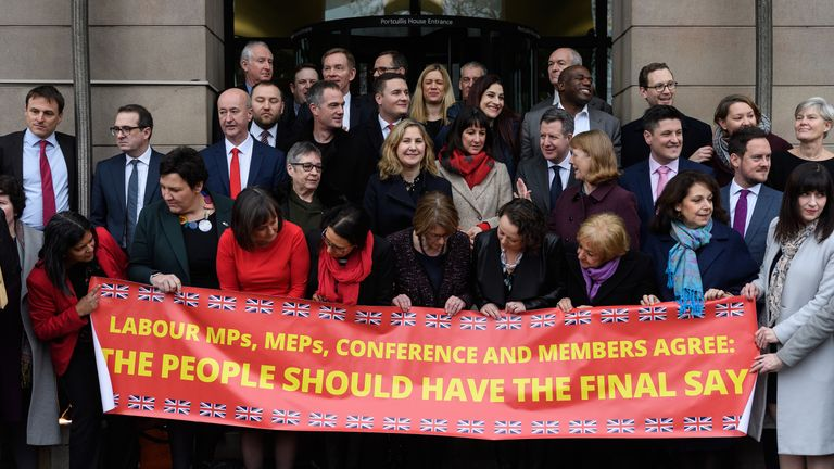 Labour MPs have bolstered their support for the people's vote