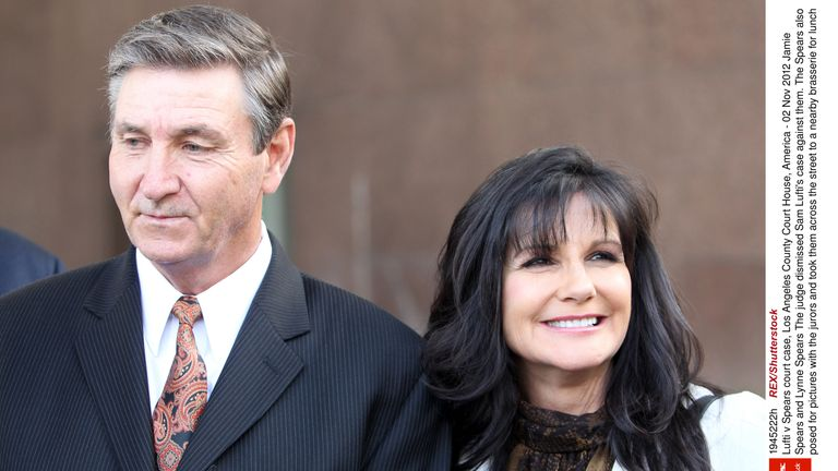 Jamie and Lynne Spears: Lufti v Spears court case, Los Angeles County Court House, America - 02 Nov 2012