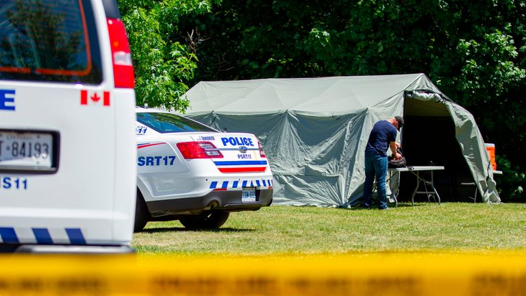Human remains were found in and around the property where McArthur worked
