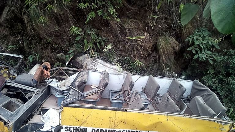 Bus crash in India