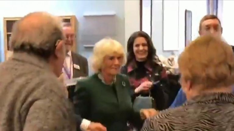 The Duchess of Cornwall dances at a Jewish Care centre in East London