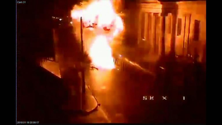 Watch: Derry car explosion caught on CCTV