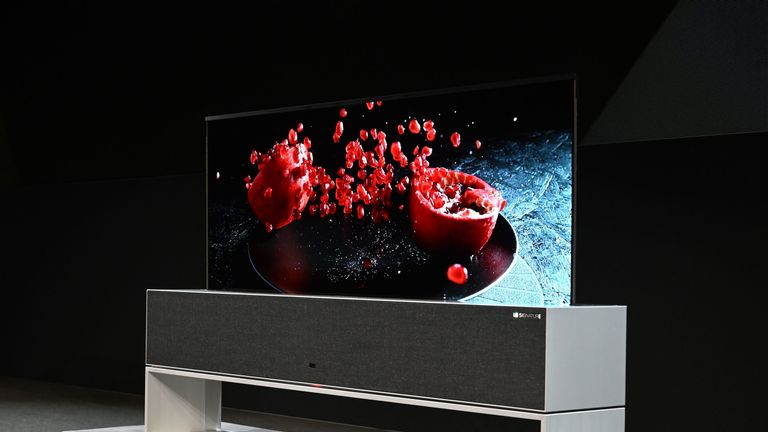 LG says the TV is durable enough to survive at least 50,000 rolls up and down