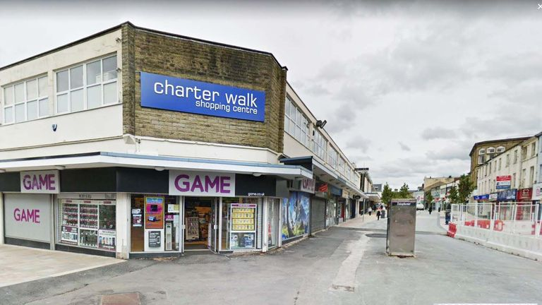 The teenager was targeted outside the Charter Walk shopping centre in Burnley