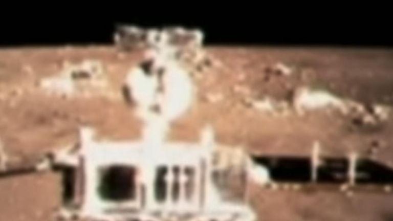 Chinese lunar explorer Chang'e 4 touches down on the far side of the moon.