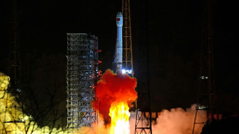 A Long March-3B rocket carrying Chang'e 4 lunar probe takes off from the Xichang Satellite Launch Center in Sichuan province, China December 8, 2018