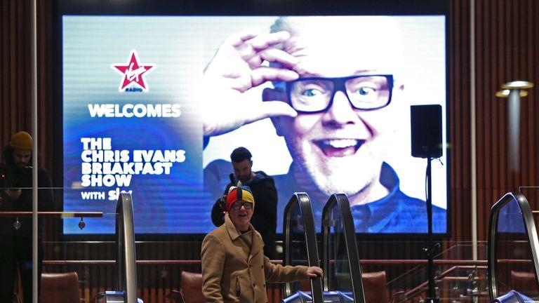 Chris Evans arrives at the Virgin Radio studios in south London