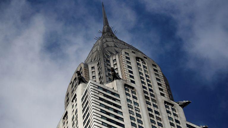 The building has gargoyles all around it