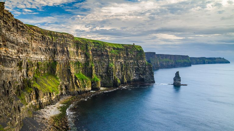The cliffs on Ireland's west coast are a major tourist attraction