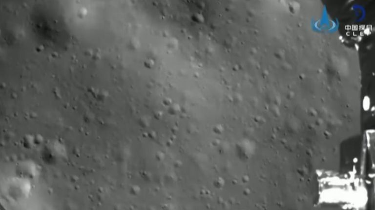 CNSA release footage of their craft landing on the far side of the moon