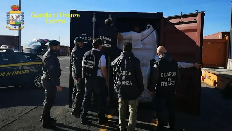 The smaller haul was concealedin a container transportingcoffee that  arrived from Spain