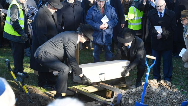 A coffin containing the remains is buried in Bushey, Hertfordshire