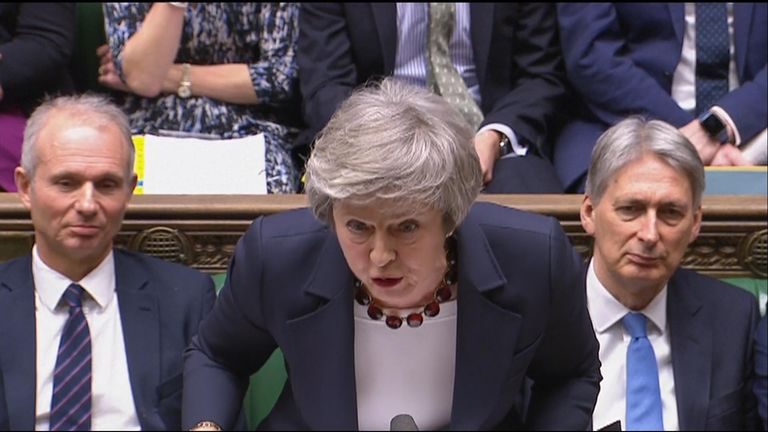 During a fiery PMQs, the prime minister told Jeremy Corbyn that if he was confused on what she had said, he 'might like to use a lipreader'.