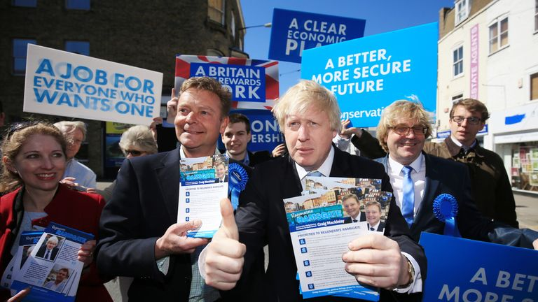Craig Mackinlay and Boris Johnson