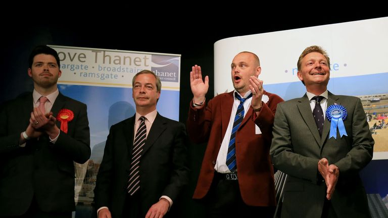 Craig Mackinlay wins the South Thanet seat in 2015