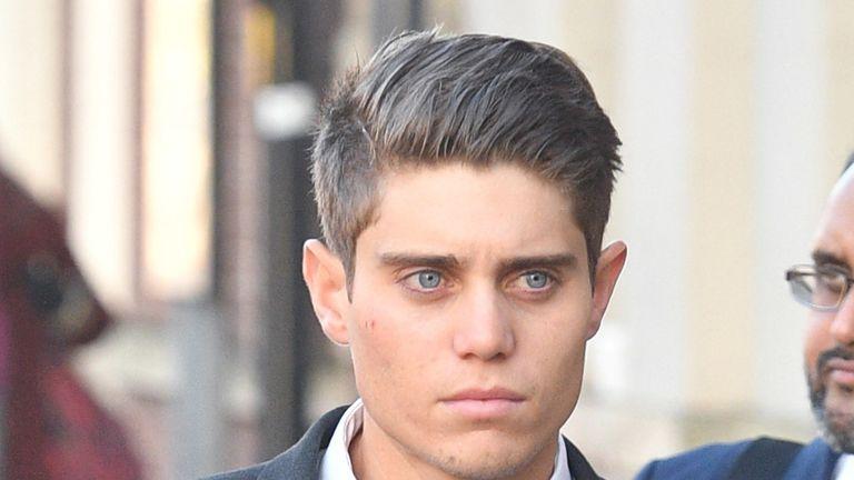 Alex Hepburn arrives at Worcester Crown Court