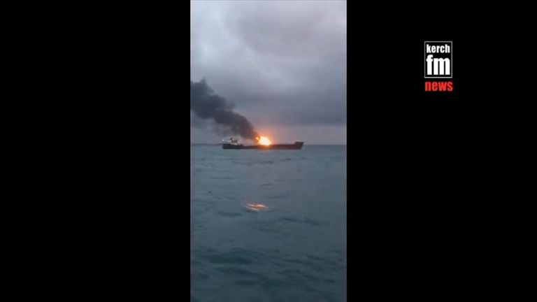 The fires started when one vessel was transferring fuel to another