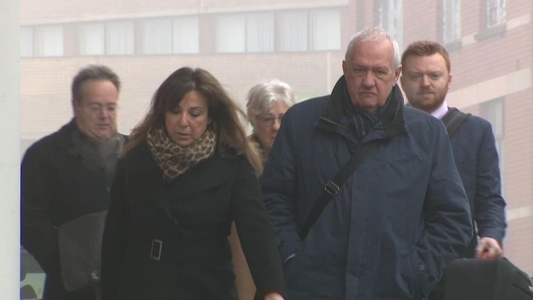 David Duckenfield arriving at Preston Crown Court on Monday morning