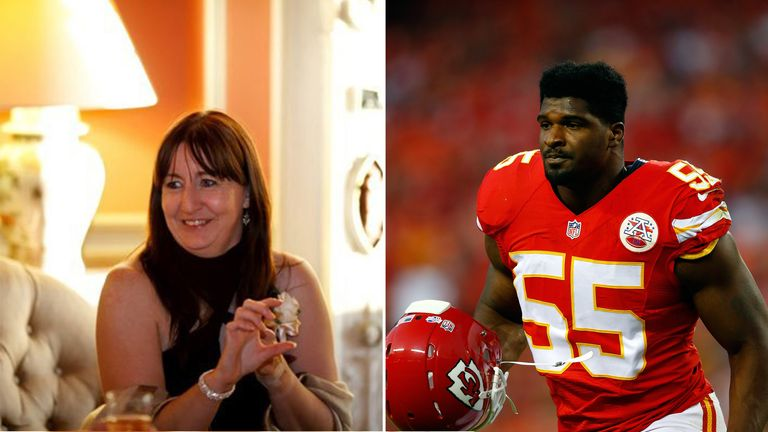 Dee Ford, from Kent, has been getting abuse from fans of American footballer Dee Ford. Pic: Dee Ford (female)