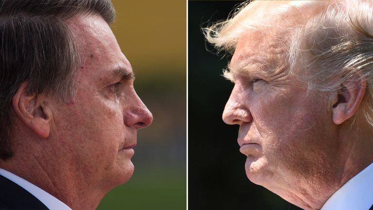Jair Bolsanaro and Donald Trump used similarly divisive rhetoric to win their respective presidential elections