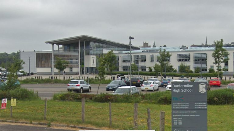Police and ambulance crews were called to Dunfermline High School