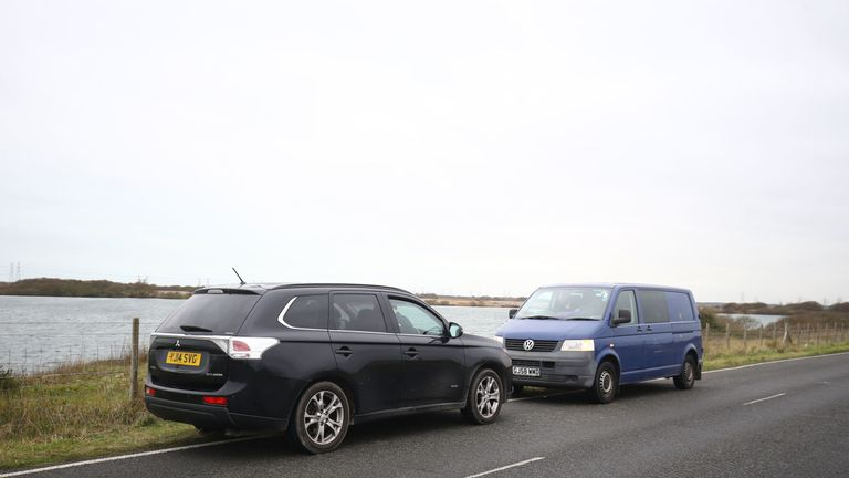 Vehicles said to be holding two of five migrants found in Kent