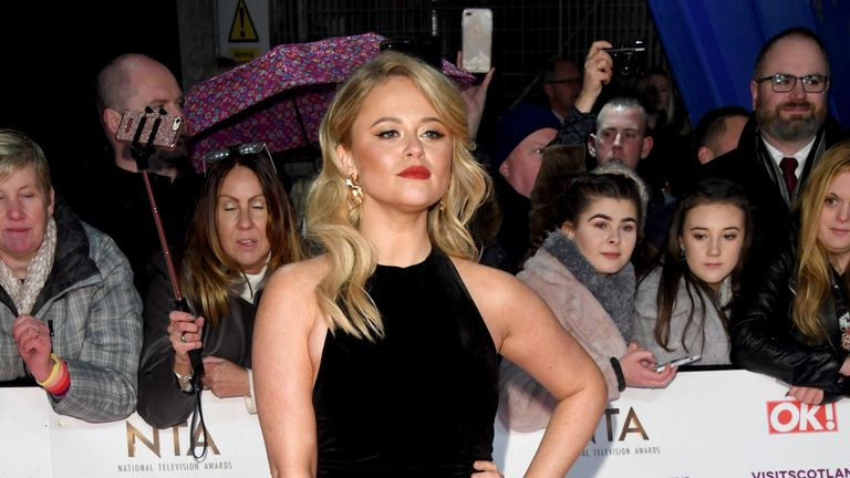 Emily Atack came second in the jungle
