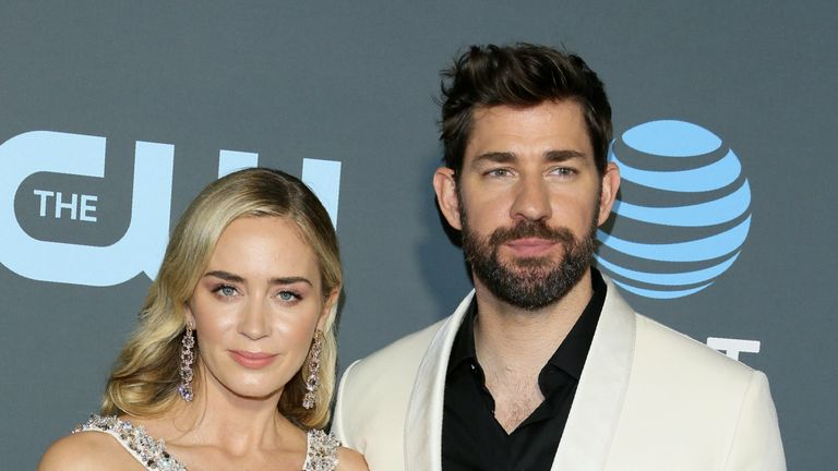 Emily Blunt and husband John Krasinski at the Critics Choice Awards 2019