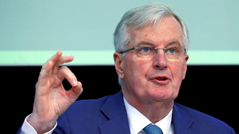 The EU's chief Brexit negotiator Michel Barnier