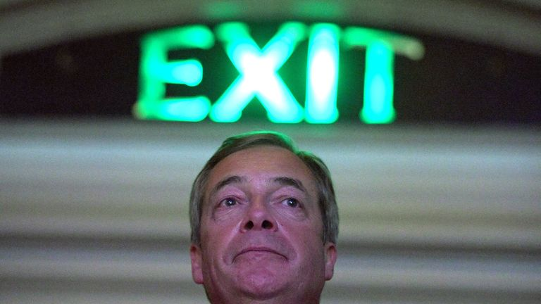 Farage has warned of an extension to Article 50