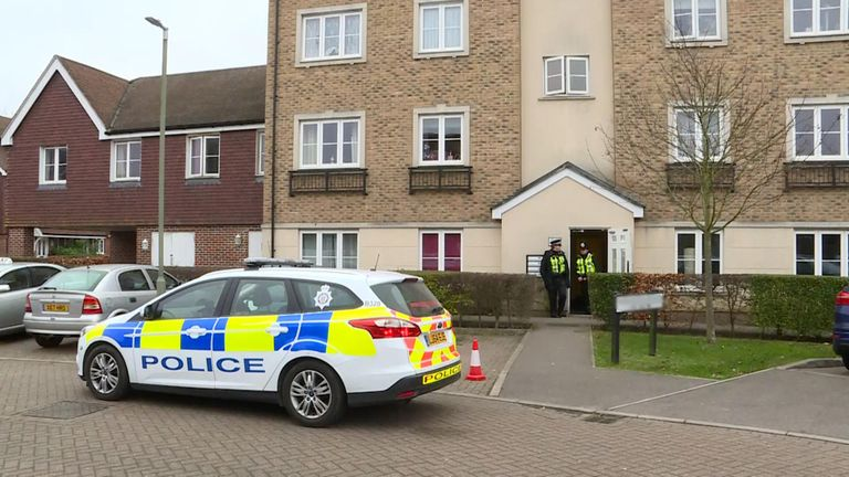 British Transport Police activity outside an address in Farnham on Saturday morning