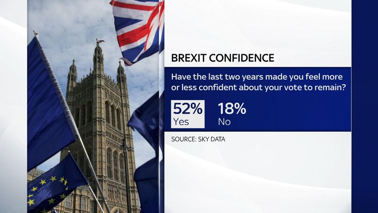 Sky Data interviewed a nationally representative sample of 1,004 UK adults online on 22 January 2019