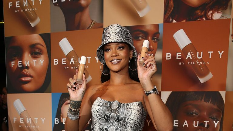 Rihanna says she has used the Fenty name for her cosmetics line and other businesses since 2012