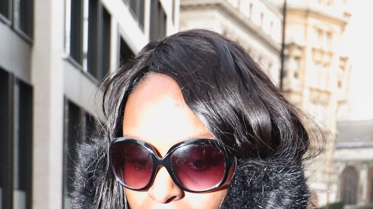 Fiona Onasanya arrives at the Old Bailey, London for sentencing after lying to avoid speeding points
