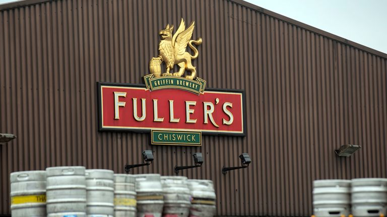 A general view of the Fullers brewery in Chiswick, west London