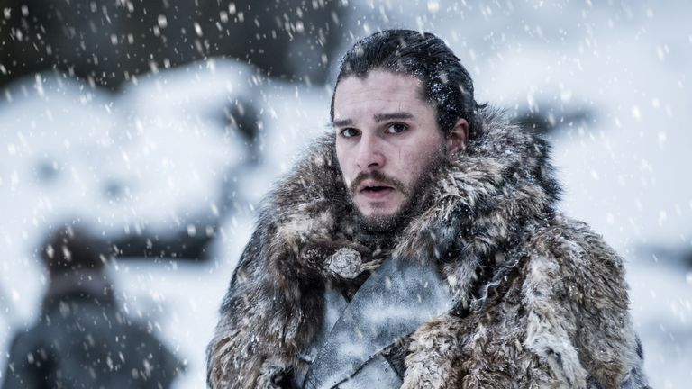 Kit Harington as Jon Snow in Game Of Thrones season 7. Pic: HBO/ Sky Atlantic
