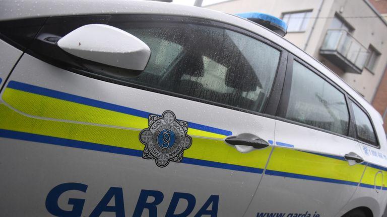 General view of a Garda car parked outside Blackrock Garda (Police) Station in Dublin