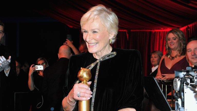 Glenn Close attends the official viewing and after party of The Golden Globe Awards hosted by The Hollywood Foreign Press Association at The Beverly Hilton Hotel on January 6, 2019 in Beverly Hills, California.