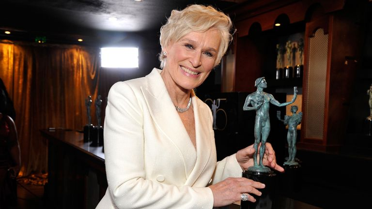 Glenn Close attends the 25th Annual Screen Actors..Guild Awards at The Shrine Auditorium on January 27, 2019 in Los Angeles, California