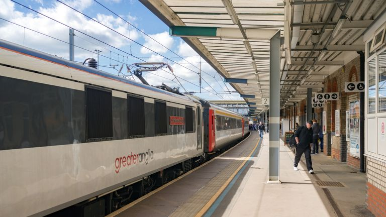 The incident happened on a Greater Anglia service. File pic