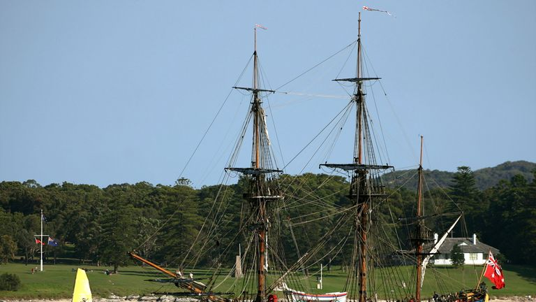 HMS Endeavour replica Botany Bay 2016