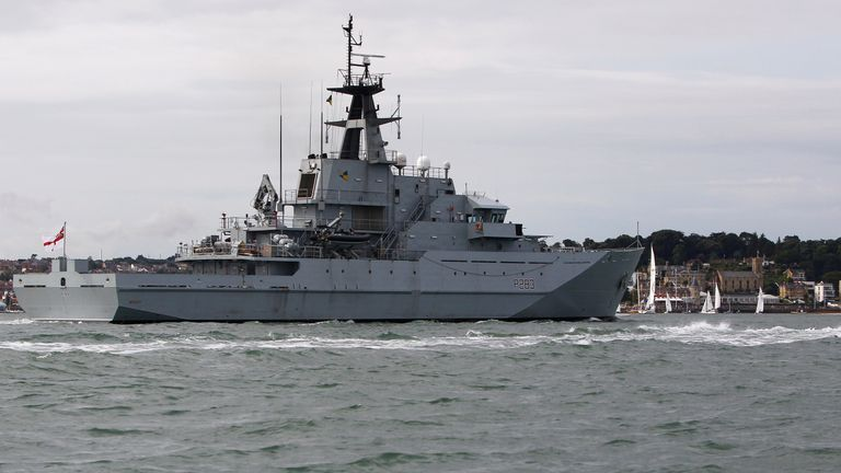 HMS Mersey will be deployed after Sajid Javid request