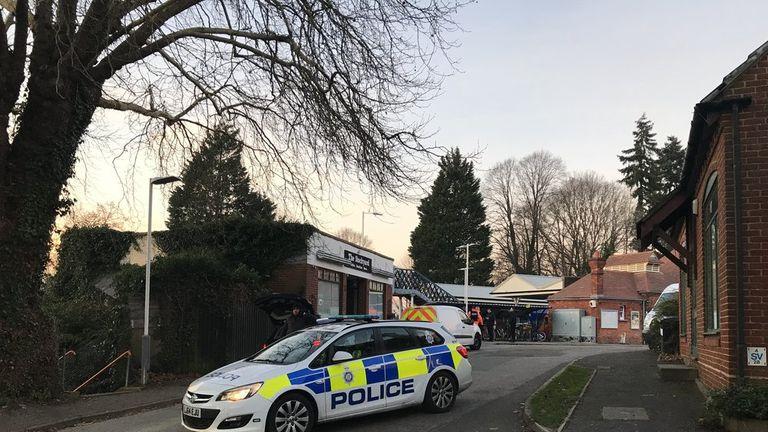 Police at Horsley Station. Pic: Eagle Radio