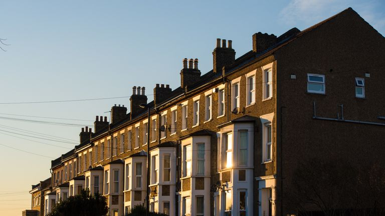 File photo dated 19/1/2016 of terraced residential houses in south east London